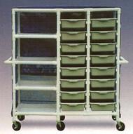 600 Series Linen Cart 3 X 1-1/4 Inch Extra Wide Casters 75 Lb Per Shelf 684-16S Each/1 - 96133409