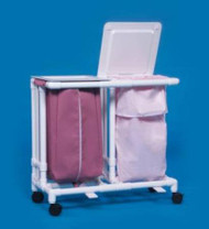 Double Hamper with Bags Classic 4 Casters 39 gal. LH-22-ZF MESH Each/1 - 22067809