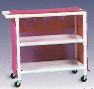 600 Series Linen Cart 3 X 1-1/4 Inch Deluxe Heavy Duty Reinforced Standard Sx Casters 100 Lb Per Shelf 632M/WILDORCHID Each/1