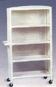 600 Series Linen Cart 3 X 1-1/4 Inch Deluxe Heavy Duty Reinforced Standard Sx Casters 100 Lb Per Shelf 634M/RED Each/1
