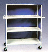 600 Series Linen Cart 5 X 1-1/4 Inch Deluxe Heavy Duty Reinforced Standard 5X Casters 125 Lb Per Shelf 695M/POWDERBLUE Each/1