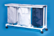 Triple Hamper with Bags Select 4 Casters 39 gal. ELH-03-ZF Each/1 - 20037806