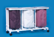 Triple Hamper with Bags Classic 4 Casters 39 gal. LH23 Each/1 - 32147809