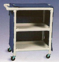 600 Series Linen Cart 3 X 1-1/4 Inch Deluxe Heavy Duty Reinforced Standard Sx Casters 75 Lb Per Shelf 635-24M/GRAY Each/1
