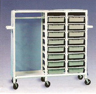600 Series Garment Cart 3 X 1-1/4 Inch Extra Wide Casters 75 Lb Per Shelf 686-16S Each/1 - 87133409