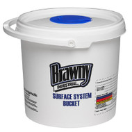 Brawny Industrial Wipe Dispenser White Manual Pull 540 Count Countertop 54006 Case/6