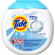 Laundry Detergent Tide Pods free & gentle 72 Count (63 oz.) Capsule 89892 Pack/72