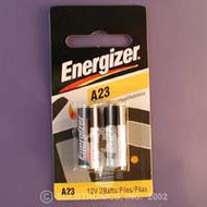 Energizer Alkaline Battery A23 Cell 12V Disposable 2 Pack 0007023 Pack/1