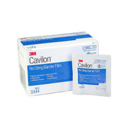 Barrier Film Wipe Cavilon Hexamethyldisiloxane, Isooctane, Acrylate Terpolymer, Polyphenylmethylsiloxane Copolymer Wipe 1 mL Sterile 3344 Case/120