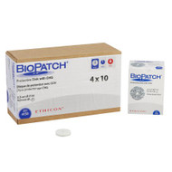 Hemostatic IV Dressing Biopatch 1 Inch Disk With 4.0mm Center Hole Round 4150 Box/10