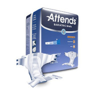 Adult Incontinent Brief Attends DermaDry Tab Closure 2X-Large Disposable Heavy Absorbency DD50 Case/48