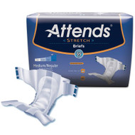 Adult Incontinent Brief Attends DermaDry Tab Closure Medium / Regular Disposable Moderate Absorbency DDSMR Case/96