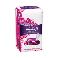 Incontinence Liner Always Discreet Light Light Absorbency DualLock Female Disposable 1830934 Pack/24