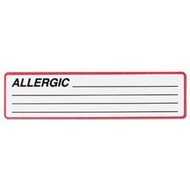 Chart Label Allergy Alert Allergic / Lines White / Red Border 1-3/8 X 5-3/8 Inch 1646-01 RL/1