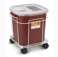 Sharps Container Cart McKesson Brand 15W X 13L X 15H Inch, White, Wire Formed, Locking Casters 8790 Each/1