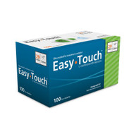 Insulin Pen Needle EasyTouch Without Safety 29 Gauge 1/2 Inch 829021 Box/100