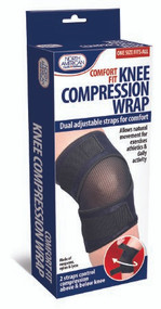 Wrap North American Health & Wellness One size fits all Dual Velcro Straps Knee JB7431 Each/1