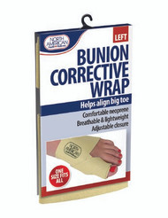 Bunion Corrective Wrap North American Health & Wellness One Size Fits All Hook and Loop Adjustable Closure Left Foot JB7448LT Box/48