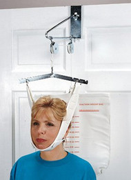 Cervical Traction Kit, Overdoor Grafco Deluxe Chrome-plated Steel One Size Fits Most GF1871 Case/1