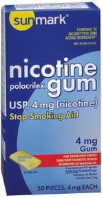 Stop Smoking Aid sunmark 4 mg Strength Gum 1135045 Box/50