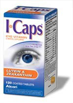Eye Vitamin and Mineral Supplement with Lutein ICaps 3300 IU / 200 mg Strength Coated Tablet 120 per Bottle 2152973 BT/1