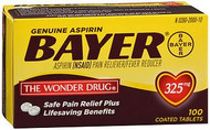Pain Relief Bayer 325 mg Strength Tablet 100 per Box 1806165 BT/100