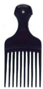 Hair Pick Dawn Mist 2-1/4 Inch Black Plastic 567 Each/1