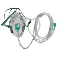 Oxygen Mask Elongated Adult One Size Fits Most Adjustable Nose Clip / Elastic Strap RES2100 Case/50