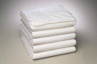 Bed Sheet Fitted 36 W X 81 L X 13 D Inch White Cotton 55% / Polyester 45% Reusable  DZ/12