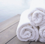 Bath Towel Room Ready for You 24 W X 48 L Inch Cotton, 86% / Polyester, 14% White Reusable 46451100 DZ/12