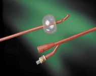 Foley Catheter Bardex Lubricath 2-Way Coude Tip 5 cc Balloon 14 Fr. Hydrophilic Polymer Coated Latex 0102L14 Each/1