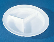 Partitioned Plate Inner Lip White Reusable Melamine 8-3/4 Inch Diameter 8128 Each/1 - 81287700