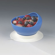 Scoop Bowl with Suction Cup Base Maddak Blue Reusable Plastic 4-1/2 Inch Diameter 745340000 Each/1