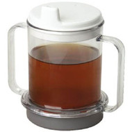 Drinking Mug 10 oz. Crystal Clear Plastic Reusable 555667 Each/1