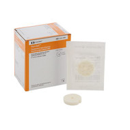 Antimicrobial Foam Dressing Kendall AMD 1 X 0.157 Inch Fenestrated Round Non-Adhesive without Border Sterile 55511AMD Box/10