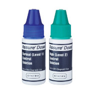 Control Solution Assure Dose Blood Glucose Testing Normal / High 500006 Box/2