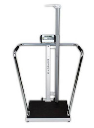 Bariatric Scale ProMed Digital, LCD 800 X 0.2 lbs. Black Mat 6 C-Cell Alkaline Battery or AC Adapter 6857DHR Each/1