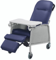 Recliner Lumex Imperial Blue Four Swivel Casters 574G432 Each/1