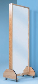 Glass Portable Mirror 27 X 72 Inch Oak 1671 Each/1