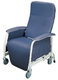 Extra-Wide Recliner Lumex Preferred Care Warm Taupe Vinyl Upholstered Four Swivel Casters FR565WG409 Each/1