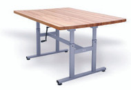 Deluxe Crank Butcher Block Work Table 60 L X 28 W X 27 - 39 H Inch Steel Frame 4325 Each/1