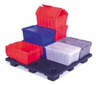 FliPak Storage Container HDPE / Plastic 20.7 L X 13.6 W X 9.7 H Inch Top, 17.7 L X 11 W Inch Bottom 5894103 Each/1