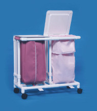 Double Hamper with Bags Classic 4 Casters 39 gal. LH-22-ZF MESH Each/1 - 22037809