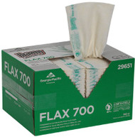Brawny Dine-A-Cloth FLAX 700 Foodservice Wipe Medium Duty White / Green NonSterile Flax / Cellulose 12-3/4 X 21 Inch Disposable 29651 Box/1