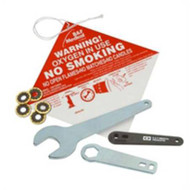 No Smoking Tag 5-1/8 X 5-1/8 Inch Red / White 66099 Case/100