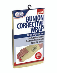 Bunion Corrective Wrap North American Health & Wellness One Size Fits All Hook and Loop Adjustable Closure Right Foot JB7448RT Box/48