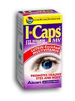 Eye Vitamin and Mineral Supplement with Lutein ICaps MV 200 IU / 256 mg Strength Tablet 100 per Bottle 1661925 BT/100