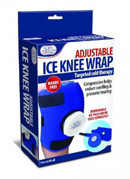 Ice Wrap North American Health & Wellness Knee One Size Fits All 9 X 5-1/2 X 2.375 Inch Reusable JB6411 Box/12