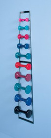 Dumbbell Wall Rack 10 W X 53.25 H X 3.5 D Inch, Metal 5555 Each/1