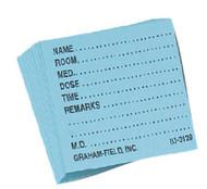 Medicine Card Grafco 1 1/2 X 1 3/4 Inch White 3129 W Box/500